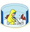 貯水槽清掃作業のイメージ